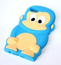 For iPod Touch 4th Generation - Soft Rubber Silicone Skin Case Cover Cute Monkey