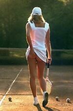 CHEEKY TENNIS GIRL PINUP POSTER (61x91cm)  PICTURE PRINT NEW ART