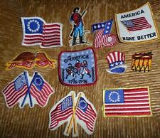 11pc Set Vintage 1976 Bicentennial Patriotic Patches Flags Hats More! NOS NICE