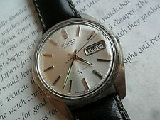 Clean Vintage 1975 S/S Men's Seiko 17J Automatic Day Date Watch 7006-8007 Runs