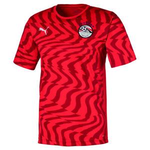 PUMA Egypt Mens Home Shirt 2020 2021 Red Football Replica Jersey