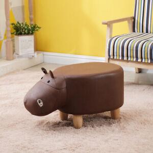 Hippo Shape Footstools Padded Cushion Footstool Pouffe Stool Rest Seat Ottomans