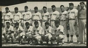 "1934 Warm Springs Baseball Team Photo, ""Integrated High Level Team"""