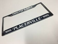 Thompsons Toyota Pkacerville Plate Frame metal