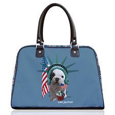 Teo Jasmin America French British English Bulldog Bowling Bag Handbag Tote