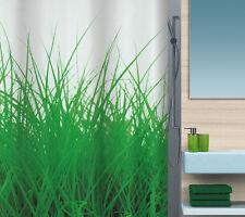 Grass Green Grün Textil Duschvorhang 180 x 200 cm. Schweizer Markenware