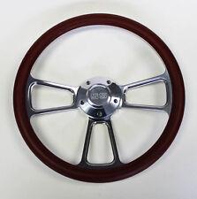 "69-93 Camaro Chevelle Nova Monte Carlo Steering Wheel Burgundy Billet 14"" SS Cap"