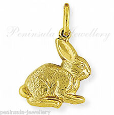 9ct Gold Rabbit Bunny bracelet Charm Gift Boxed