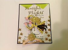 Fanciful Flights Stick Pin by Karen Rossi ANIMAL SHOPPER pin card With Poem NIP