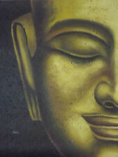 Abstract Buda Cara Grande Pintura Al Óleo Lienzo Contemporáneo Moderno Arte