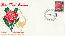 Stamp Australia 30c flower on colour trial PARADE producer FDC, limited edition
