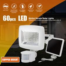 60 LED Motion Sensor Solar Powered Outdoor Garden Security Flood Light Lamp