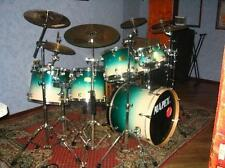 2001 Mapex Pro M 7pc. Maple Drum Set in Coral Crystal! Rare Color, Great Kit!