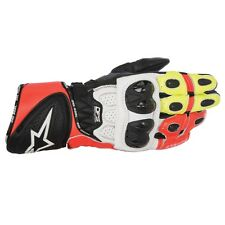 Alpinestars GP Plus R Fluo/Red/Wht Leather Motorbike/Motorcycle Race Gloves