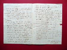 Autografo Monaldo Leopardi Lettera Recanati 29/7/1835 Veratti Voce della Verità