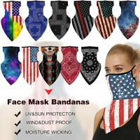 Breathable Neck Gaiter Tube Bandana Scarf Face Cover Ear Loop Balaclava LOT Pack