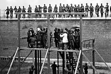 New 5x7 Photo: Adjusting Ropes for Hanging Execution of Lincoln Conspirators