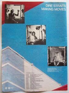 DIRE STRAITS 1980 original POSTER ADVERT MAKING MOVIES