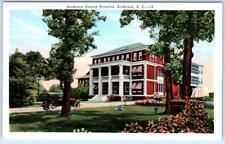 ANDERSON, South Carolina  SC   ANDERSON COUNTY HOSPITAL ca 1920s   Postcard