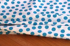 Webware Baumwolle Dekostoff bedruckt Punkte weiß blau  *** 50 cm x 140 cm ***