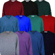 ProQuip Water Repellent Mens V-Neck Lambswool Sweater Jumper Golf Pullover