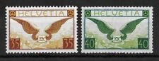 SWITZERLAND 1929-1933 Mint NH Airmail Complete Set of 2 Michel #233-234 VF