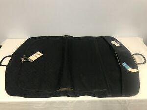 VINTAGE AUTHENTIC GUCCI BLACK CANVAS & LEATHER GARMENT TRAVEL BAG