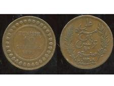 TUNISIE   10  centimes 1891   ( 1 )  ( bis )
