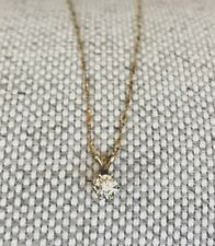0.50 Carat Diamond Solitaire Pendant Necklace SI2 - w/14K Gold chain 18""