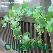 2Pcs 180cm 160 Leaves Artificial Ivy Vine Foliage Garland Natural Look Home Deco