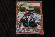 KEITH JACKSON 1991 SORTS ILLUSTRATED FOR KIDS SIGNED AUTOGRAPH CARD #311 EAGLES