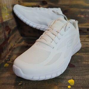 Men Skechers Overhaul 2.0 Running Shoes Triple White SN 56230WMC Sz 9.5 New