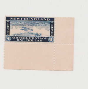 Wayzata Airmail Stamp. Newfoundland Cinderella. Near Prussian Blue.