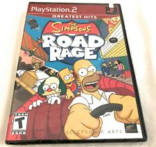 THE SIMPSONS ROAD RAGE PlayStation 2 Video Game PS2 Greatest Hits >NEW<