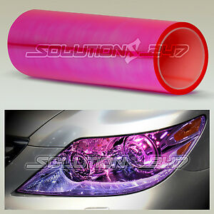 "12""x24"" Chameleon Neo Pink Color Headlight Taillight Fog Light Vinyl Tint Film"