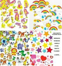Stickers Kids 3D Foam & Felt Shapes Children's Crafts Card Making Boys & Girls