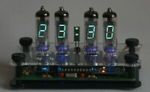 Bausatz Nixie Ära VFD IV-6 Uhr 12/24h Temp. °C  incl. Gehäuse DIY Kit