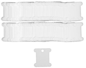 Plastic Floss Bobbins (cards), to store stranded cottons, Pack of 100