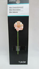 Dollhouse Miniature / Fairy Garden Flower on Pole - Pink