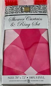 """BETTER HOME VINYL SHOWER CURTAIN AND RING SET~SIZE 70""""×72""""~NEW"""