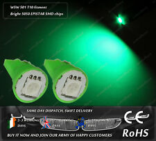 W5W T10 Wedge LED SMD Green Car Front Side Lights Parking License Plate Bulbs