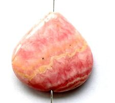Natural Rhodochrosite Heart Pendant Bead-30x27mm