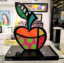 ROMERO BRITTO 'Big Apple', 2017 HAND-SIGNED Pop Sculpture Wood Black Base *NEW*
