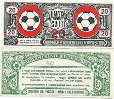CALCIO DOLLARI DA 20