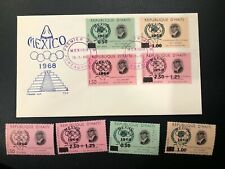 Latin America 1968 Haiti Mexico Olympics Fdc and mnh stamp set