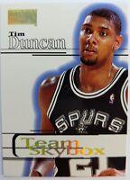 1997 97-98 SkyBox Premium Tim Duncan Rookie RC #229, Team Skybox Spurs HOF