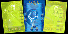 Beautiful YOGA WALL POSTERS 3-Poster Set - Symbols, Postures, Chakras, Mudras