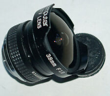 Computar fisheye lens 38mm f/1.8: C-mount for television & movie cameras