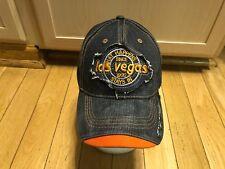 Las Vegas Men's Baseball Hat Cap Denim One Size Adjustable GUC