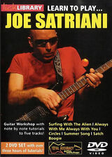 Lick Library LEARN TO PLAY JOE SATRIANI Guitar Video Lessons 2-DVD w. Andy James